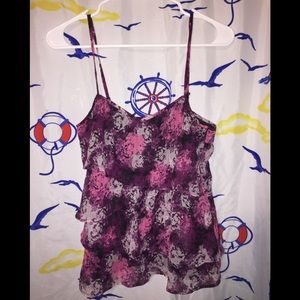 Divided by H&M ruffled top Sz 6